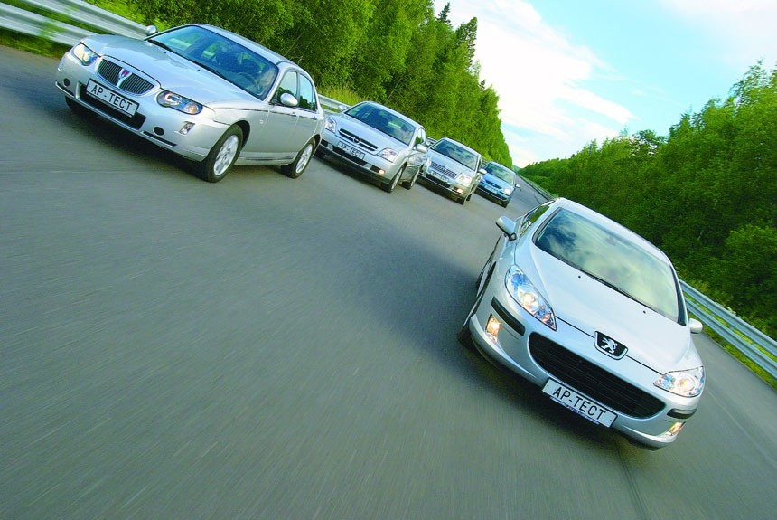 Маскарад: тест седанов Peugeot 407, Rover 75, Opel Vectra, Ford Mondeo и Toyota Avensis