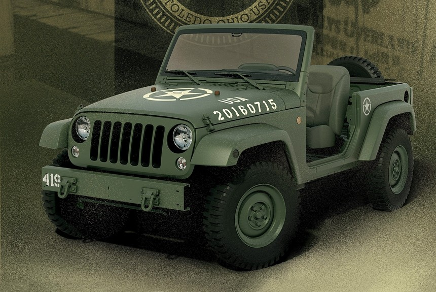 Шоу-кар Jeep Wrangler 75th Salute ознаменовал юбилей марки