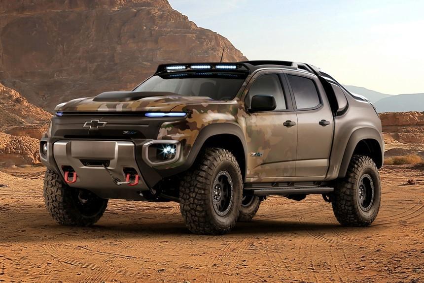 Chevrolet представила водородный пикап Colorado ZH2 для нужд армии США