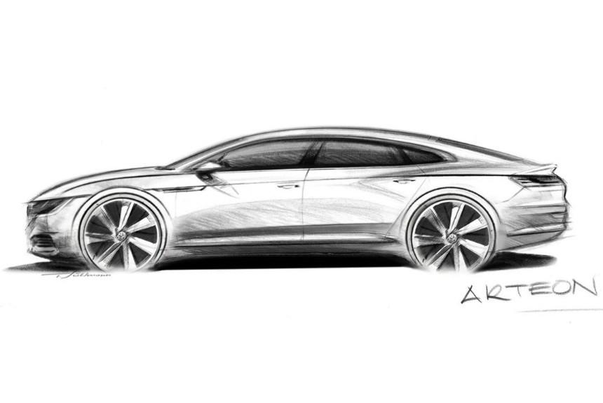 VW продемонстрировал скетчи новейшей модели Arteon— Приемник PassatCC