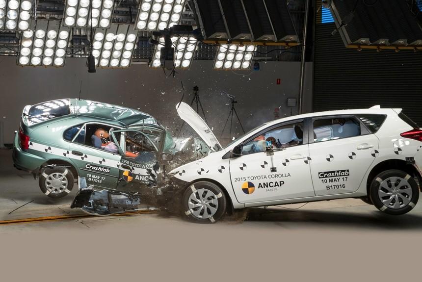 Тоёта  Corolla прошла сравнительный краш-тест