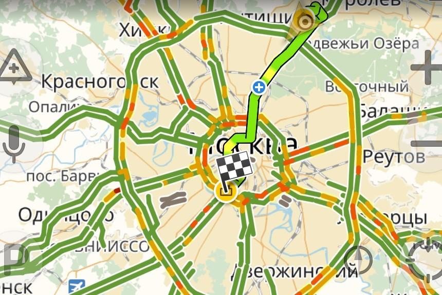 «Яндекс.Навигатор» научился учитывать скорость различных потоков машин