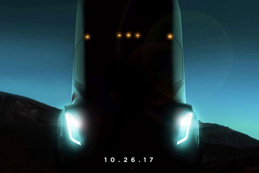 Вглобальной сети появились фотографии беспилотного грузового автомобиля Tesla