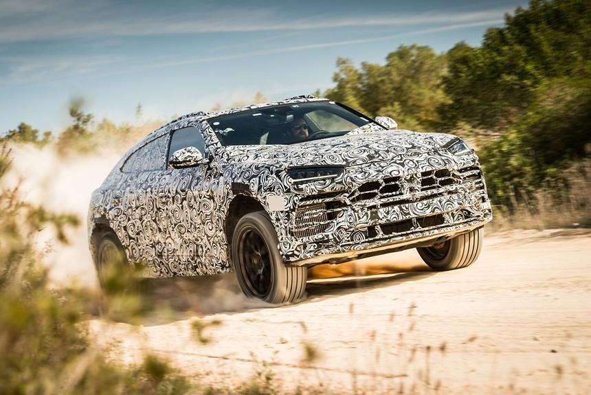 Lamborghini Urus разгонится до100 км/ч за3,7 с