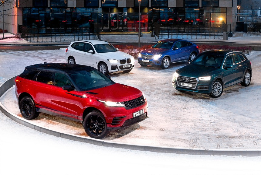 Range Rover Velar, BMW X3, Audi Q5 или Mercedes-Benz GLC Coupe?
