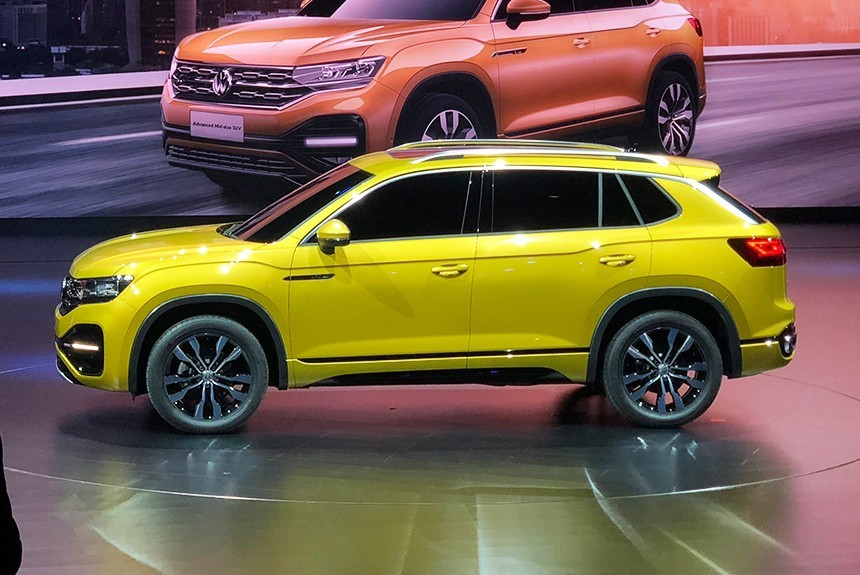 Компания VW презентовала вКитайской республике сразу 3 новых кроссовера