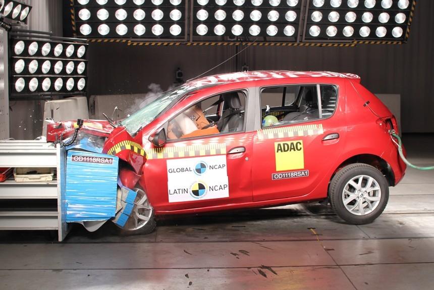 Renault Sandero провалил краш-тесты Latin NCAP