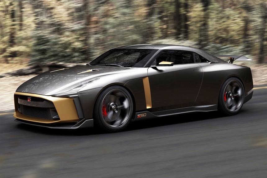 Ниссан иItaldesign представили необычайный юбилейный суперкар GT-R50