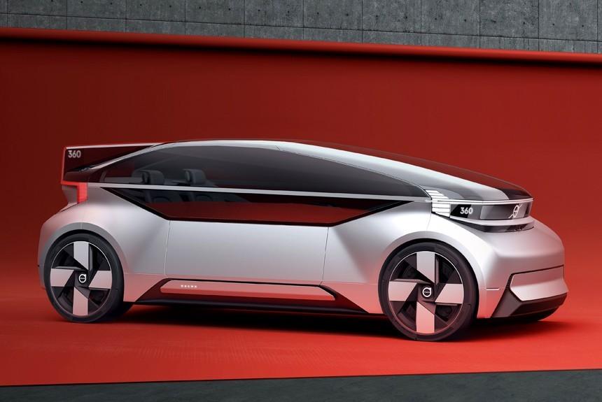 Вольво представила концепт-кар беспилотного автомобиля, вкотором можно отоспаться попути