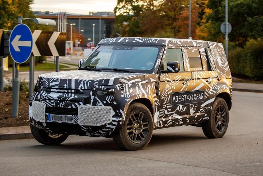 Новый Land Rover Defender засветился в серийном кузове