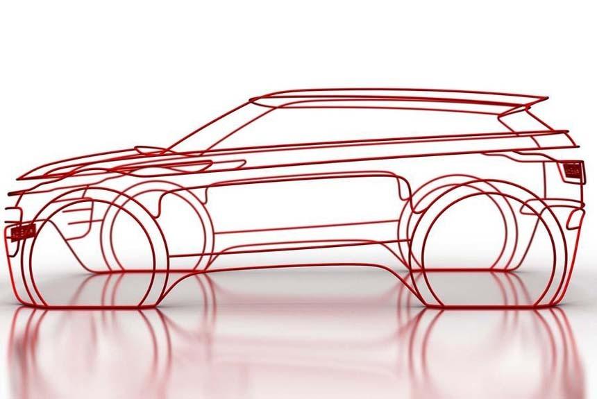 Будущий Range Rover Evoque: тизеры из проволоки