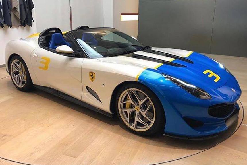 Уникальный спайдер Ferrari SP3JC показали для своих