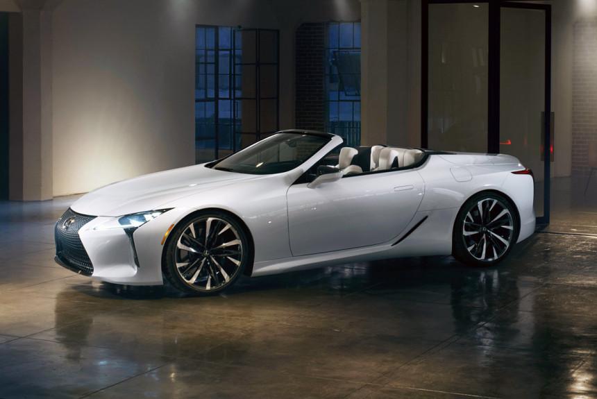 Кабриолет Lexus LC прощупает почву для серийной модели