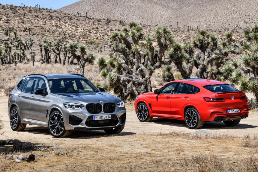 Представлены «заряженные» кроссоверы BMW X3 M и X4 M