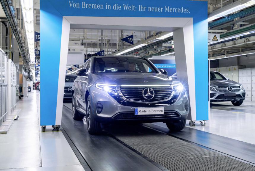 Кроссовер Mercedes-Benz EQC выходит на рынок
