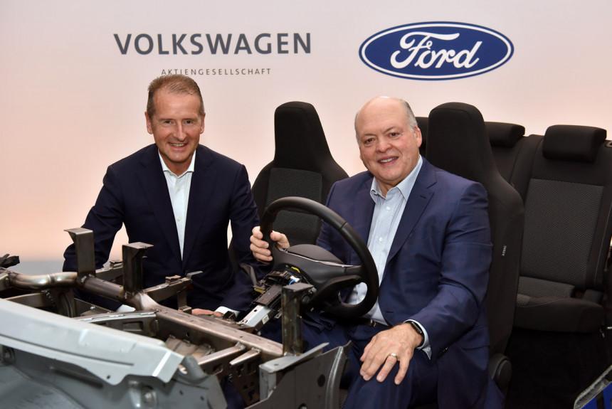 Форд и Фольксваген расширяют многомиллиардный союз для производства самоуправляемых авто