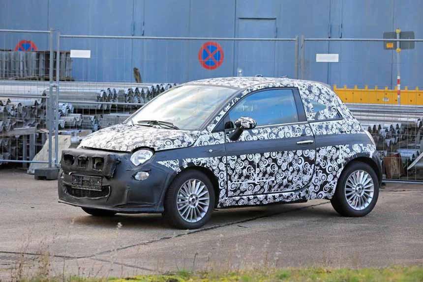 Будущий Fiat 500e подловили на испытаниях