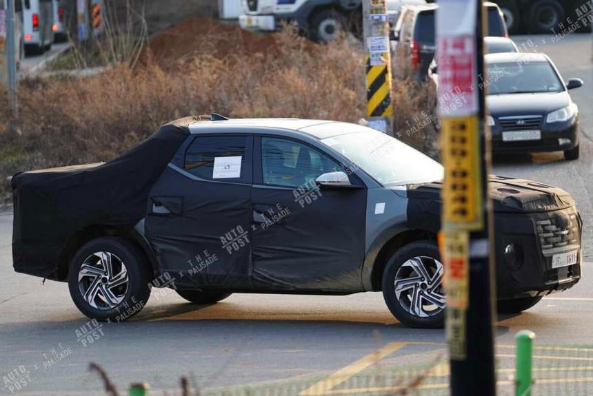 Пикап Hyundai Santa Cruz засветили на испытаниях