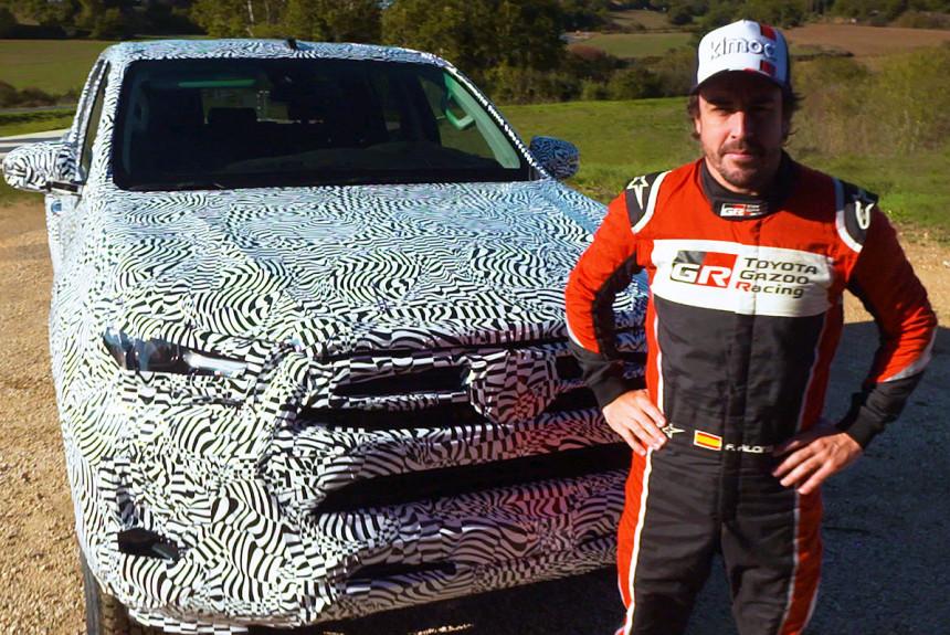 Фернандо Алонсо засветил обновленный пикап Toyota Hilux