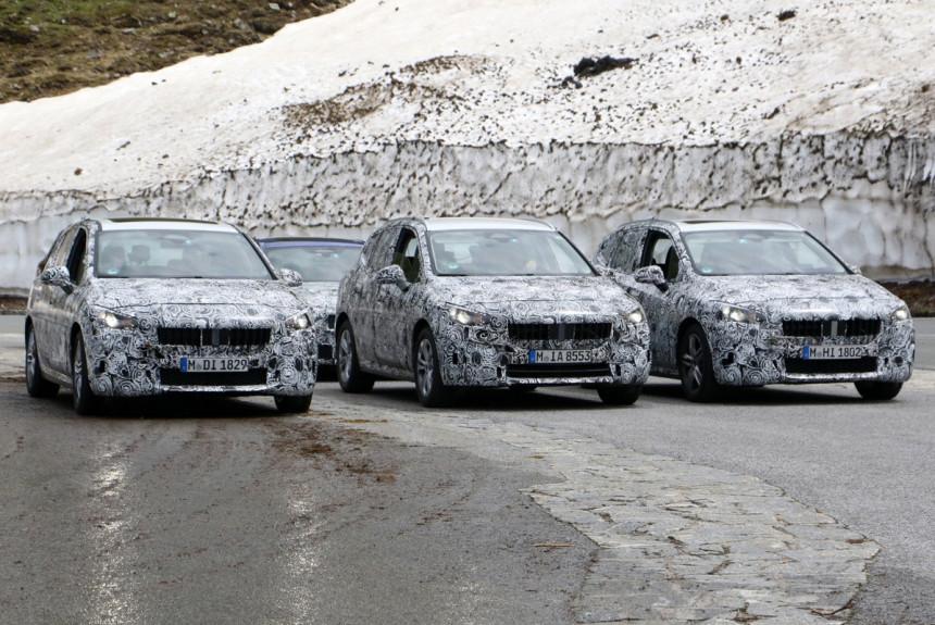 Новые компактвэны BMW второй серии замечены в Альпах