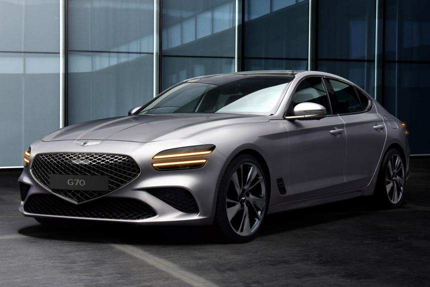 Рестайлинговый Genesis G70: новое лицо и старые моторы