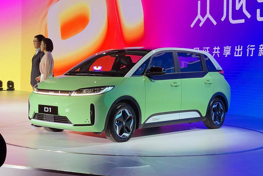 Представлен электромобиль BYD D1 для каршеринга и такси