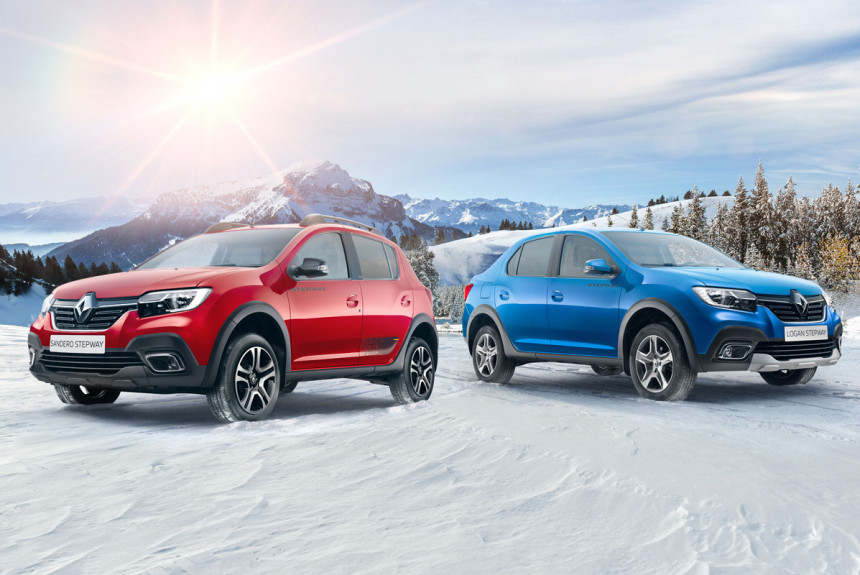 Renault Logan и Sandero легкий макияж к новому году