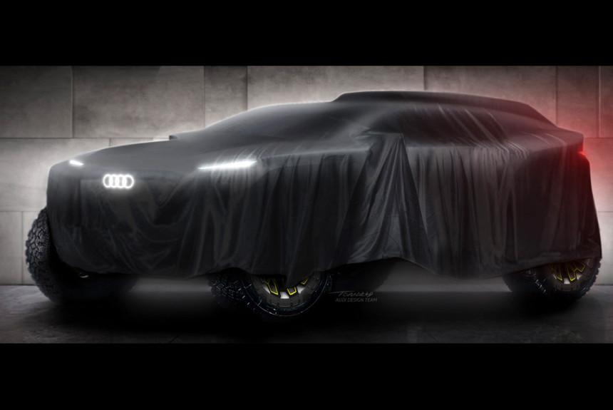 Audi собирается на Дакар с гибридным внедорожником