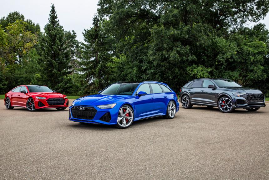 В России доступны для заказа Audi RS 6, RS 7 и RS Q8