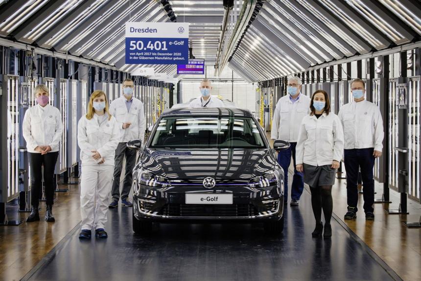 Последний электрический Volkswagen e-Golf сошел с конвейера