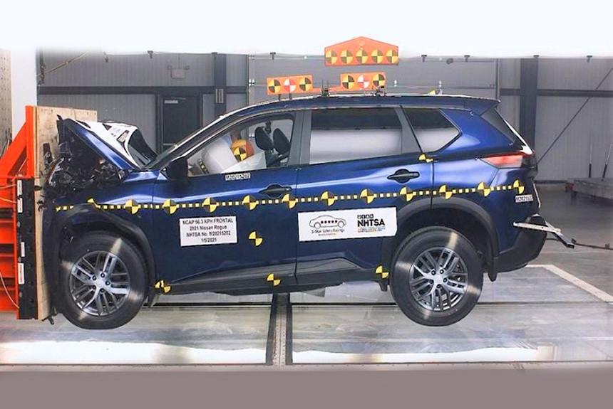 Новый Nissan Rogue провалил краш-тест NHTSA