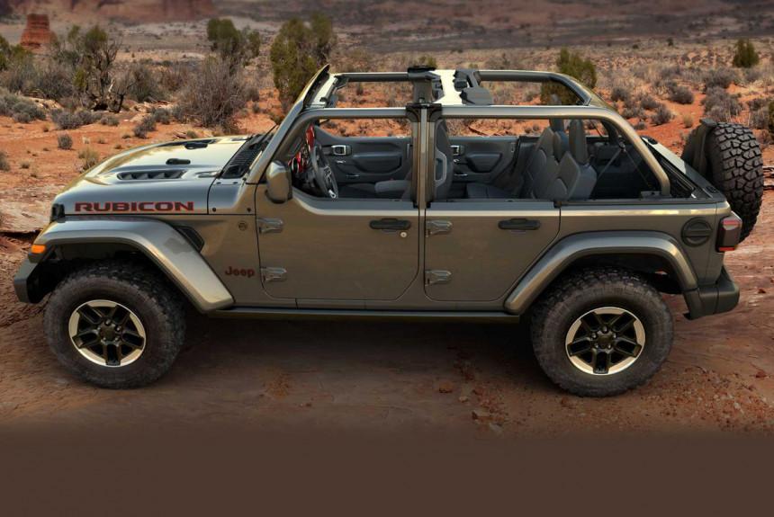 У внедорожника Jeep Wrangler появились «полудвери»