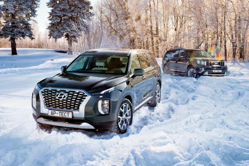 Hyundai Palisade и Kia Mohave: застряли все!