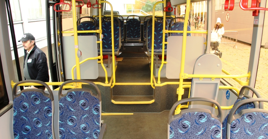 Автобус Вихрь: салон автобуса