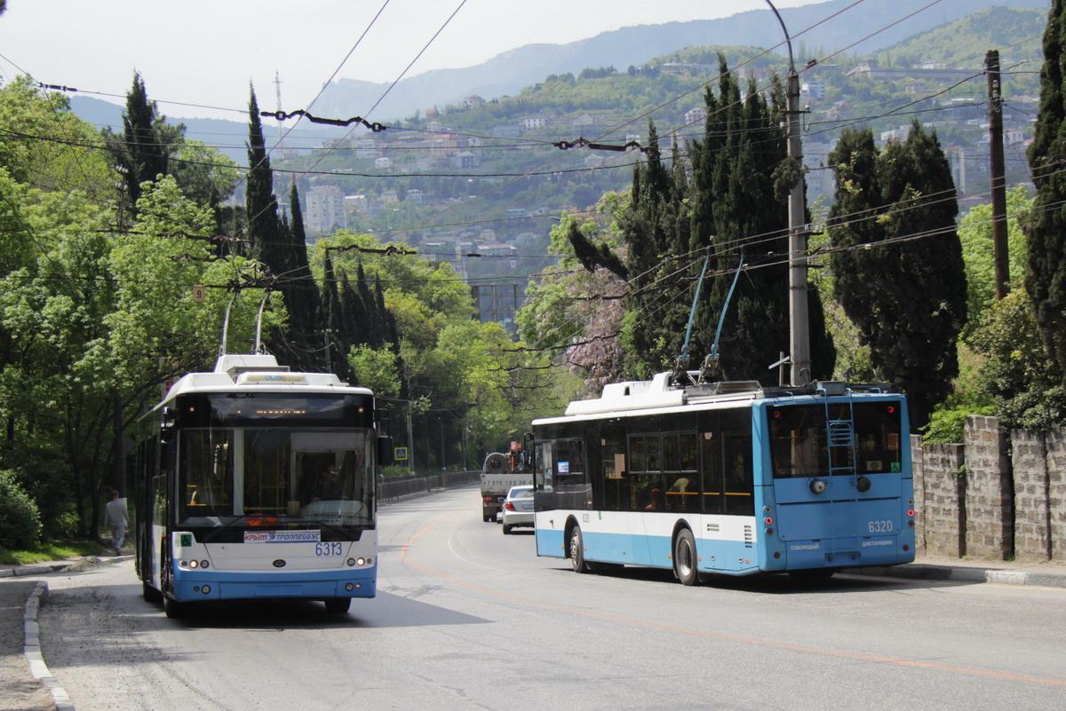 В Крыму много троллейбусов Богдан