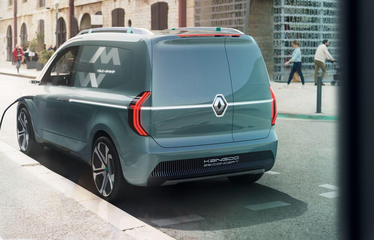 В облике концептуального Renault Kangoo Z.E. обращают на себя внимание камеры вместо зеркал заднего вида
