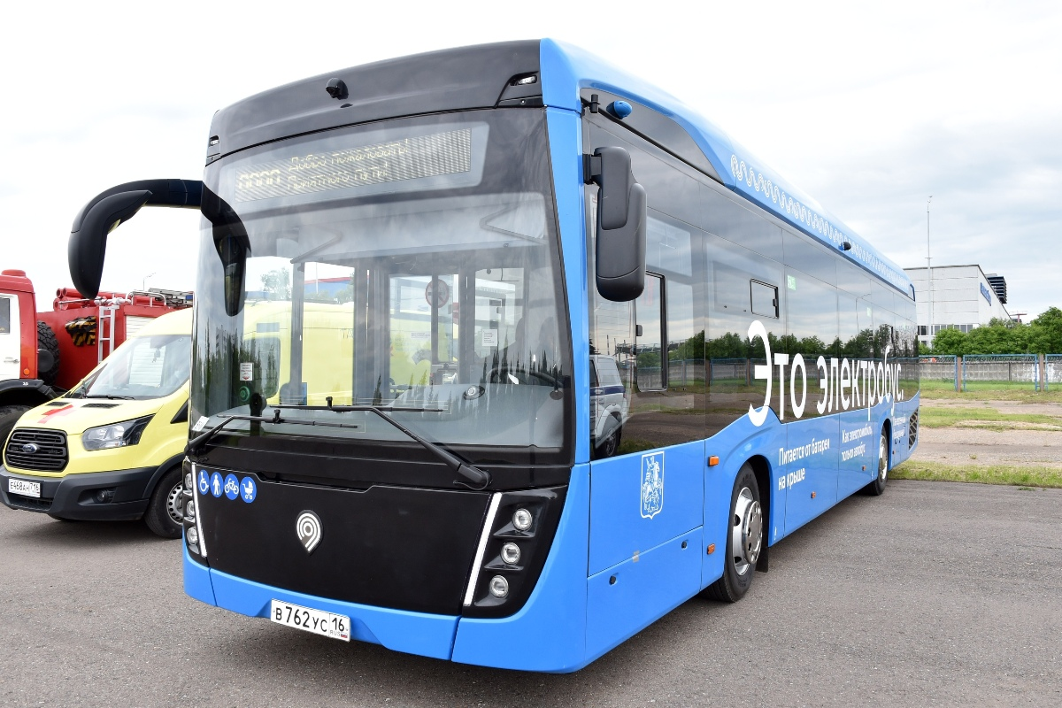 Among other things, the guest took a ride behind the wheel of a brand-new KAMAZ electric bus: perhaps Kazan