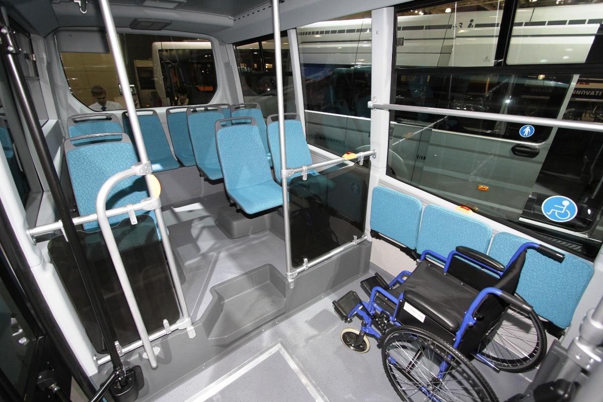 Оформление салона электробуса повторяло интерьер предыдущих прототипов