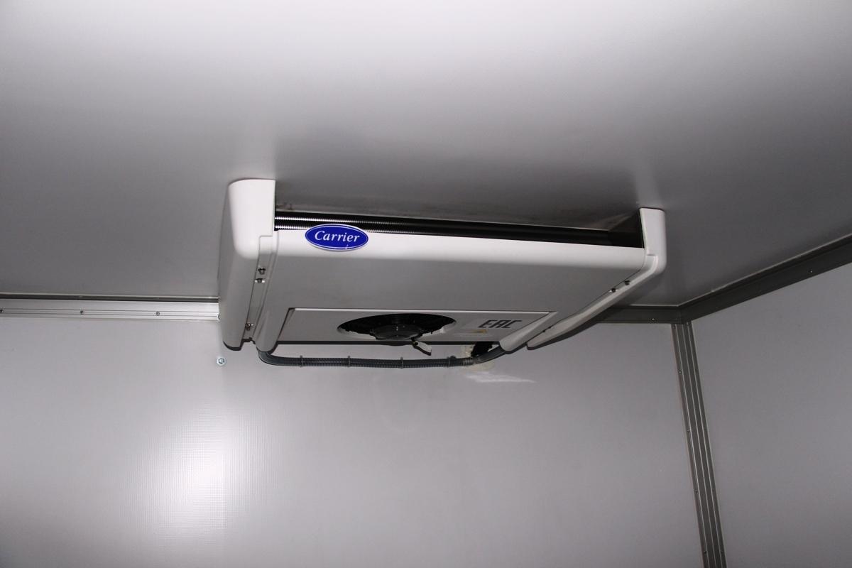 Установка позволяет поддерживать в кузове температурный режим от –20 до +12 градусов
