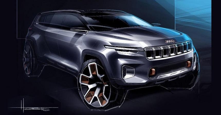 jeep yuntu concept2 - В Шанхае покажут семиместный кроссовер Jeep