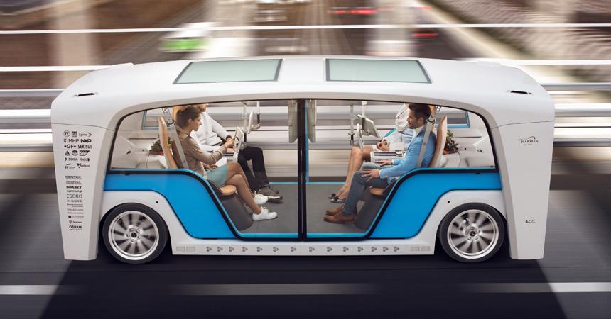 Вот это «маршрутка»! Трансформер Rinspeed может перевозить пассажиров либо  превращаться… вкафе