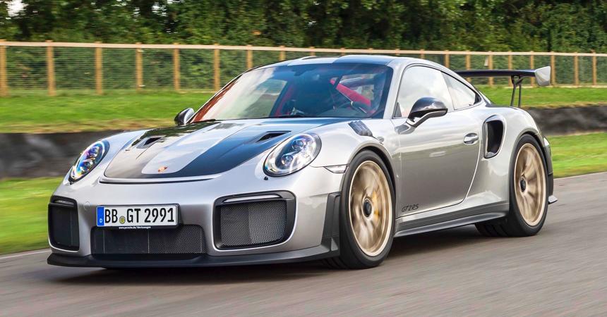 Компания Порше презентовала суперкар 911 GT2 RSнаФестивали скорости вГудвуде