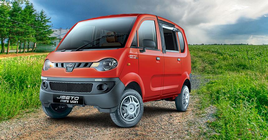 Компания Mahindra презентовала самый дешевый  минивэн вмире Jeeto Minivan