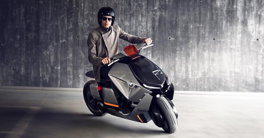 Компания БМВ представила городской мотоцикл будущего
