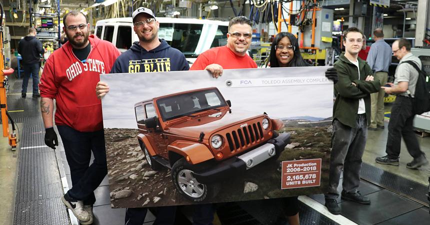 Выпущен последний Jeep Wrangler серии JK