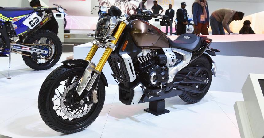 TVS Zeppelin Cruiser: гибридный мотоцикл со встроенной видеокамерой