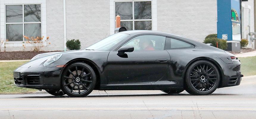 Porsche 911 следующего поколения засветился без маскировки
