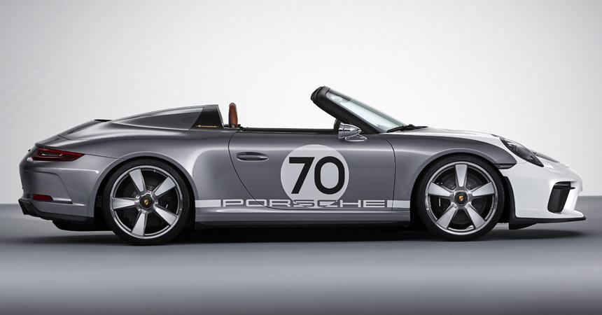 Порш представила юбилейный 500-сильный спорткар 911 Speedster
