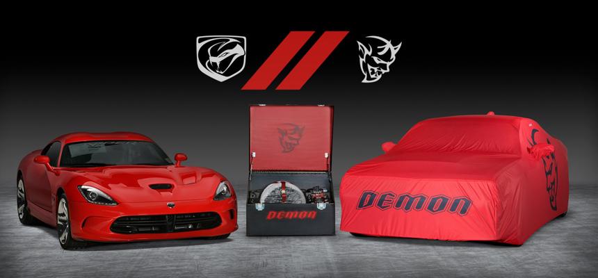 Последний Dodge Challenger Demon продадут в паре с финальным Вайпером