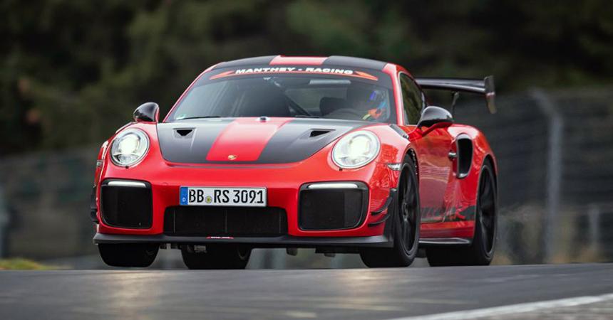 Порше 911 GT2 RSMR установил рекорд Нюрбургринга